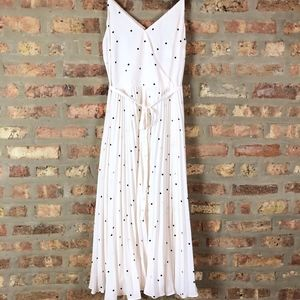 LOFT NWT Polka Dot Accordian Pleates Midi Dress 4